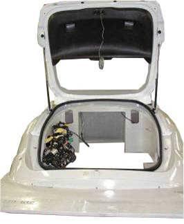 Waterproof simulator rear tailgate